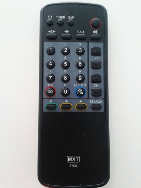 Controle remoto tv toshiba ct - 5700 - 0979