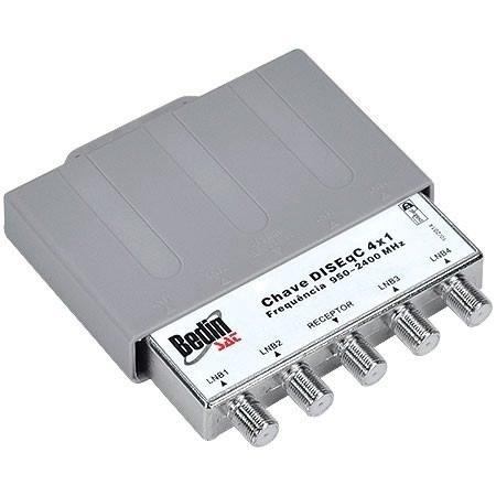 Chave comutadora - 4x1 disceq 2.0 1/5/10