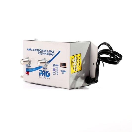 Amplificador de linha vhf/uhf 20db bivolt
