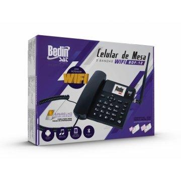 Telefone celular fixo de mesa bdf-12 3g bedin 1/2/3