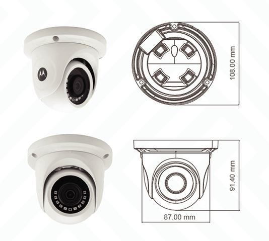 Camera 4x1 dome    metal 20mt sensor cmos