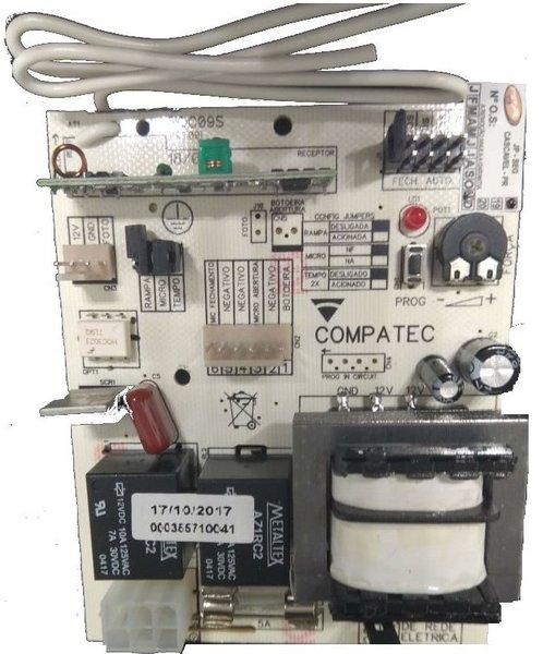 Central de comando na/nf 433 mhz s/ borne rqc09st compatec 1/3/5