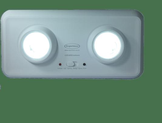 Iluminação emergencia 400 lumens farois embutidos 20/700p  1/5/10