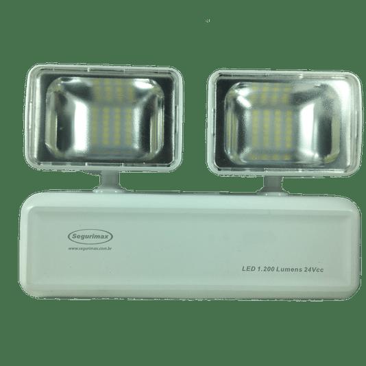 Luminaria emergencia led 1200 lumens 2 farois 24vcc 20