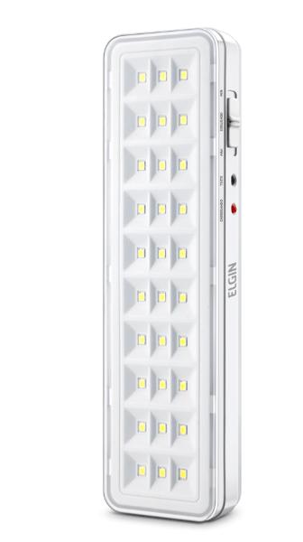 Luminaria emergencia 30 leds - bateria de litio - elgin 1/10