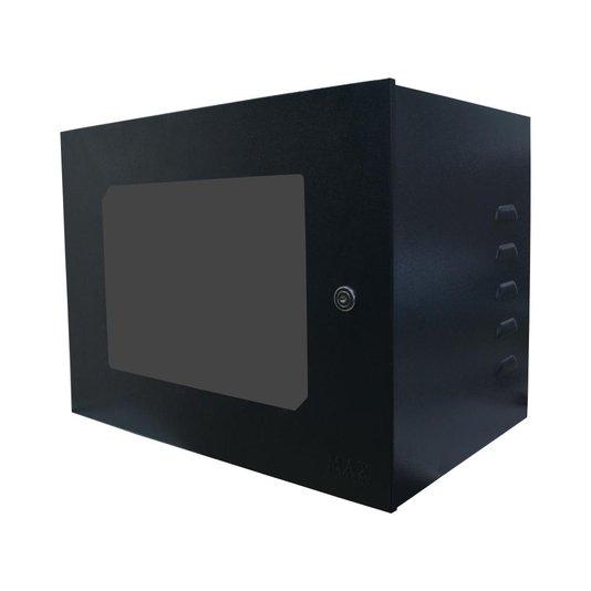 Mini rack 19' 08u x 350mm acrilico preto - max eletron 1/2/3