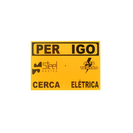 Placa aluminio (cerca eletrica) (26022183)  haste 1/10/3