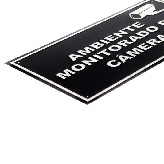 Placa em aluminio ambiente monitorado ( 20 x 10 cm)