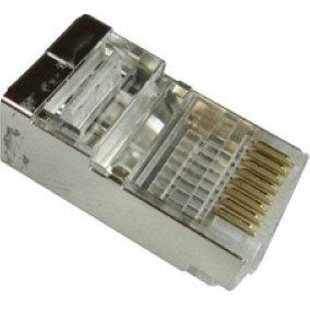 Plug rj 45 8x8 cat 5e blindado pacific network - multitoc 1/50/100