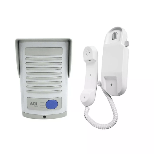 Porteiro eletronico p100 abs/pq branco ali ext