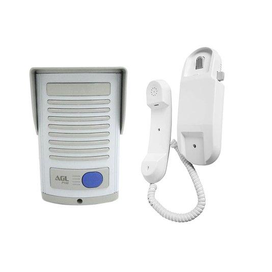 Porteiro eletrico p100 abs/cinza  ali. ext.- pq. agl 1/3