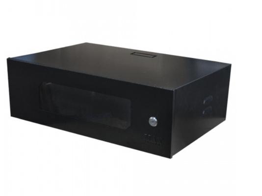 """Rack mini 19"""" 3u x 350mm acr preto - max eletr 1/2/3"""