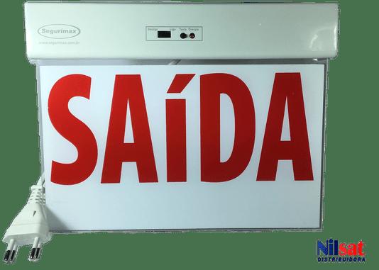 Sinalização saida df slim c/ adesivo 20/600p  1/5/10