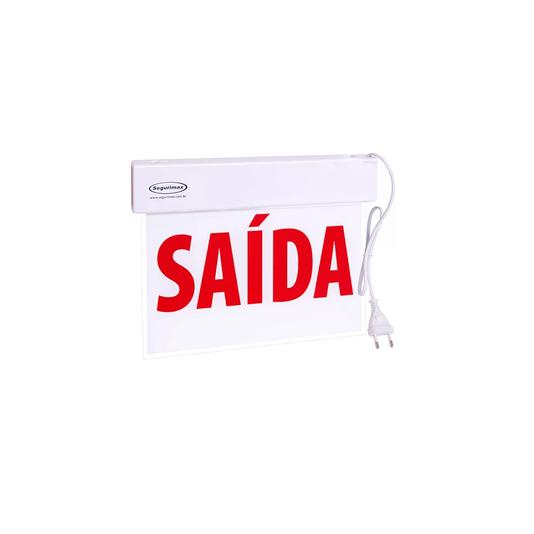 Sinalização saida slim fu c/ adesivo 20/600p  1/5/10