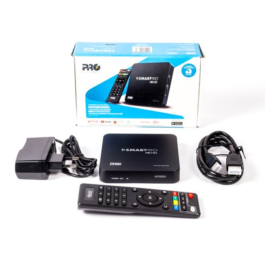 Smartbox wifi 4k recepção de conteudo digital 2 1/10/20