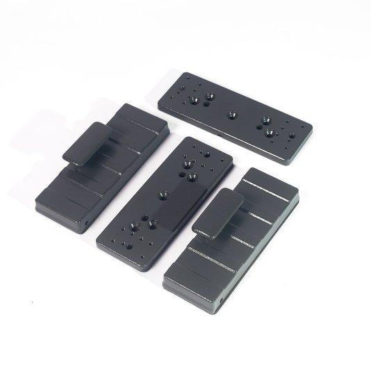 Suporte fechadura eletroima pv c/puxador ci 1/5/10
