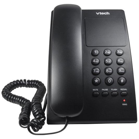 Telefone com fio vtc105b digital de mesa preto  1/10/