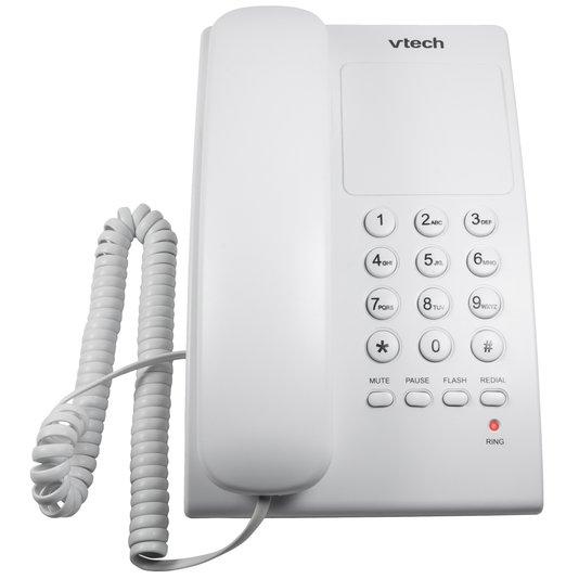 Telefone com fio vtc105w digital de mesa branco  1/10/30