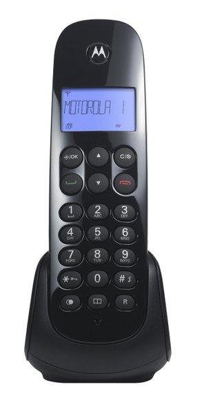 Telefone s/fio moto700 dect digital com id preto  1/