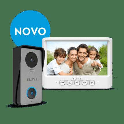 Video porteiro cabeado c/ terminal externo e monitor esl - vpc1 - elsys 1/2/3