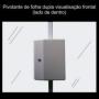 Fechadura magnetica ipec pivotante cinza porta de vidro 1/2/3