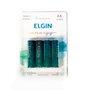 Pilha alcalina - aa  lr6 (blister c/ 4) - elgin 1/15/30