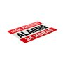 Placa em aluminio alarme 24h ( 17,50 x 13cm)